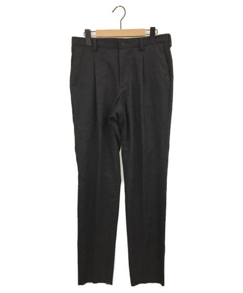 山内(ヤマウチ)山内 (ヤマウチ) ノーミュールシング・ウールパンツ ブラック サイズ:4の古着・服飾アイテム