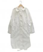 TELA(テラ)の古着「フーデッドコート」|ホワイト