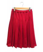 ()の古着「トラックジャージープリーツスカート」|レッド