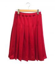 COMME des GARCONS COMME des GARCONS(コムデギャルソン コムデギャルソン)の古着「トラックジャージープリーツスカート」|レッド