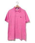 JUNYA WATANABE COMME des GARCONS MAN(ジュンヤワタナベコムデギャルソンマン)の古着「オーバーダイポロシャツ」|ピンク