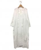nagonstans(ナゴンスタンス)の古着「リネン刺繍ワンピース」 ホワイト