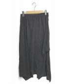 ()の古着「Function 2way ドレープラップスカート」 ブラック