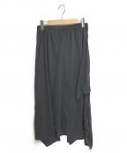 nagonstans(ナゴンスタンス)の古着「Function 2way ドレープラップスカート」 ブラック