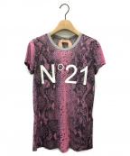 N°21 numero ventuno(ヌメロヴェントゥーノ)の古着「パイソンロゴTシャツ」