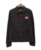 UNDERCOVER()の古着「カツラギデニムジャケット」|ブラック