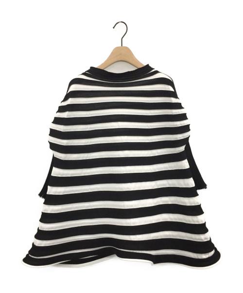 PLEATS PLEASE(プリーツプリーズ)PLEATS PLEASE (プリーツプリーズ) BOUNCE KNIT SHIRT ブラック サイズ:3の古着・服飾アイテム