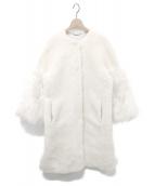 CELFORD(セルフォード)の古着「袖ファー付きボアコート」 ホワイト