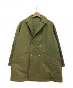 SCYE(サイ)の古着「高密度ポプリンワッシャーパティングビッグコート」|オリーブ