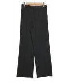 ()の古着「ブライトサージストレートパンツ」 ブラック