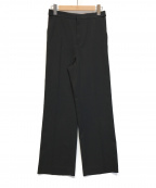 qualite(カリテ)の古着「ブライトサージストレートパンツ」|ブラック