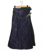 sacai()の古着「スカート」|ネイビー