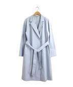 NATURAL BEAUTY(ナチュラルビューティー)の古着「ハイコンパクトトリコットコート」 ブルー