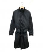 PRADA()の古着「パテッドコート」|ブラック