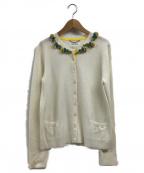 MUVEIL(ミュベール)の古着「ブローチ付カーディガン」|アイボリー