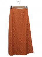 RHC Ron Herman(アールエイチシー ロンハーマン)の古着「Aラインドットスカート」|オレンジ