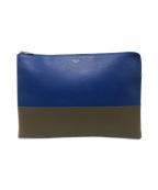CELINE()の古着「バイカラークラッチバッグ」|ブルー
