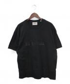 FOG ESSENTIALS(フィアオブゴッド エッセンシャル)の古着「ラバーロゴTシャツ」|ブラック