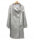 UNTITLED()の古着「ヌーベルプラティナムスタンドカラーコート」 ライトグレー