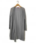 DES PRES(デプレ)の古着「ハイツイストコットンシルクロングカーディガン」|グレー