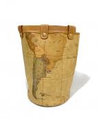 PRIMA CLASSE(プリマクラッセ)の古着「地図柄リュックサック」 ブラウン