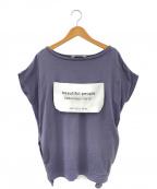 beautiful people(ビューティフルピープル)の古着「big name Tシャツ」|グレー
