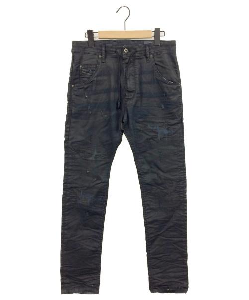 DIESEL(ディーゼル)DIESEL (ディーゼル) ダメージデニムパンツ サイズ:W28の古着・服飾アイテム