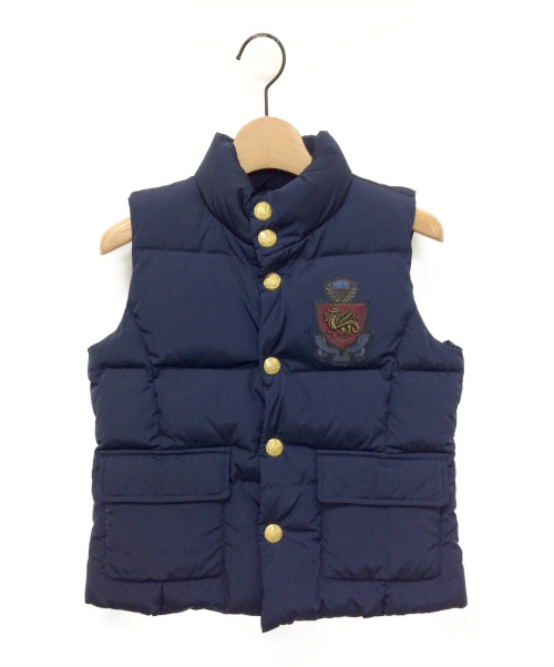 RALPH LAUREN(ラルフローレン)RALPH LAUREN (ラルフローレン) ダウンベスト ネイビー サイズ:140の古着・服飾アイテム