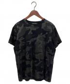 VALENTINO(ヴァレンティノ)の古着「カモフラージュTシャツ」 ブラック