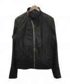 RICK OWENS(リックオウエンス)の古着「モリノカ-フレザージャケット」|ブラック