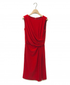 TADASHI SHOJI(タダシ ショージ)の古着「ノースリーブタイトミディアムドレス」|レッド