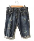 D&G(ドルチェ&ガッバーナ)の古着「デニムハーフパンツ」|インディゴ