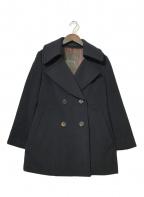 MACKINTOSH LONDON(マッキントッシュ ロンドン)の古着「カシミヤ混Pコート」 ネイビー