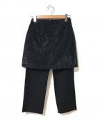Maison Margiela 1(メゾンマルジェラ 1)の古着「レイヤードパンツ」|ブラック