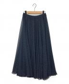 IENA LA BOUCLE(イエナ ラ ブークル)の古着「楊柳サーキュラースカート」|ネイビー