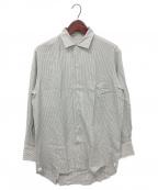 LORO PIANA(ロロピアーナ)の古着「シルクストライプシャツ」 グレー