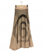 MM6 Maison Margiela()の古着「Hidden 6 knit skirt」|ベージュ