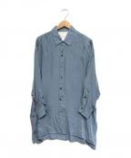 ticca(ティッカ)の古着「キュプラシャツ」 ブルー
