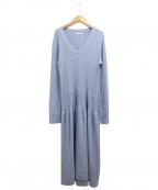 AKANE UTSUNOMIYA(アカネウツノミヤ)の古着「ニットドレスワンピース」 ブルー