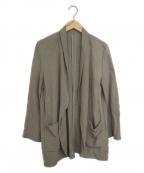 ROPE mademoiselle(ロペマドモアゼル)の古着「リネンタンブラーロングジャケット」 ベージュ
