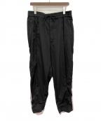 Y-3(ワイスリー)の古着「3STP WOOL SATEEN WIDE PANTS」|ブラック