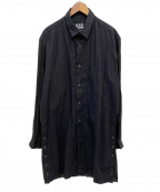 BLACK Scandal Yohji Yamamoto(ブラックスキャンダルヨウジヤマモト)の古着「2 Collar long Blouse」 ブラック