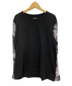 BLACK Scandal Yohji Yamamoto(ブラックスキャンダルヨウジヤマモト)の古着「シャツスリーブTシャツ」 ブラック