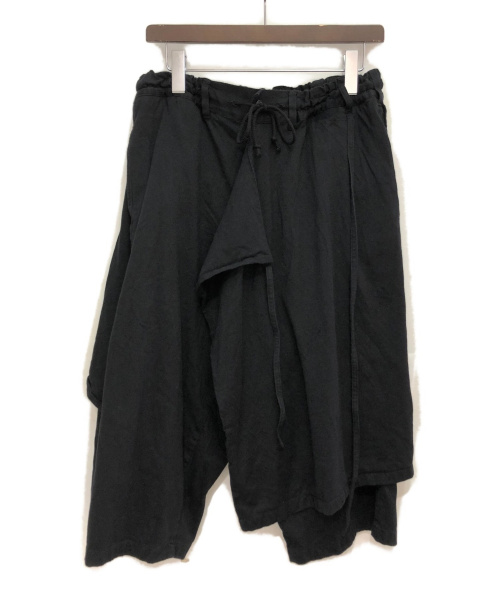 GROUND Y(グランドワイ)GROUND Y (グランドワイ) 20SS 3WAYスカートラップパンツ ブラック サイズ:3の古着・服飾アイテム