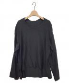 BLAMINK(ブラミンク)の古着「シルクインティメイトブラウス」|ブラック