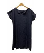()の古着「ハイツイストコットン切り替えワンピース」 ブラック
