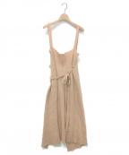 BASERANGE(ベースレンジ)の古着「メリノウールラップスカート」|ベージュ
