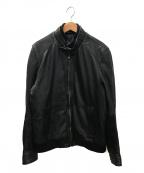 BOSS HUGO BOSS(ボスヒューゴボス)の古着「レザーブルゾン」|ブラック