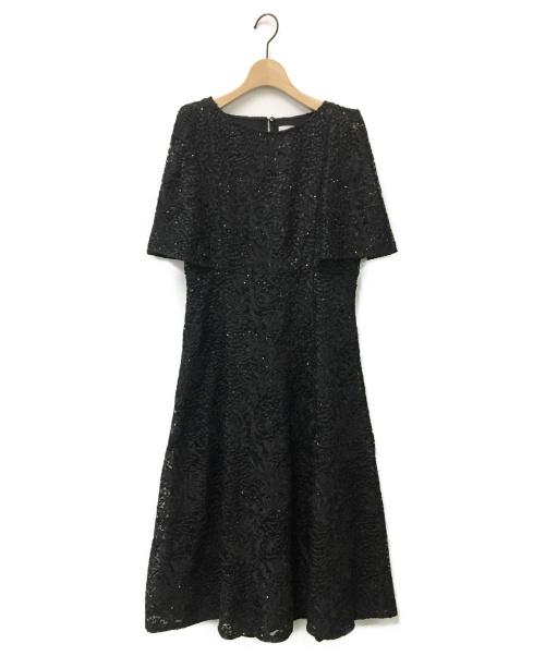 CELFORD(セルフォード)CELFORD (セルフォード) スパンコール刺繍ドレス ブラック サイズ:38の古着・服飾アイテム