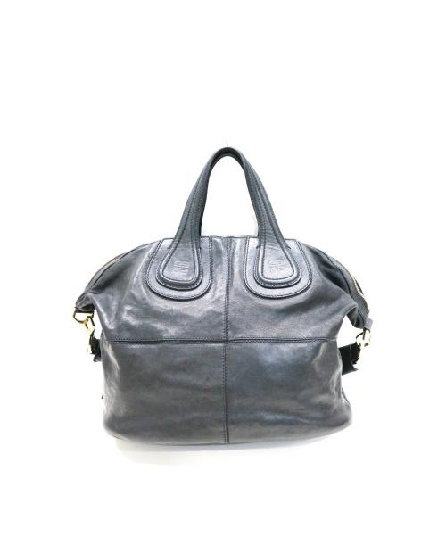 GIVENCHY(ジバンシィ)GIVENCHY (ジバンシィ) トートバッグ / 2WAYレザーハンドバッグ ブラック ナイチンゲール MA1104の古着・服飾アイテム